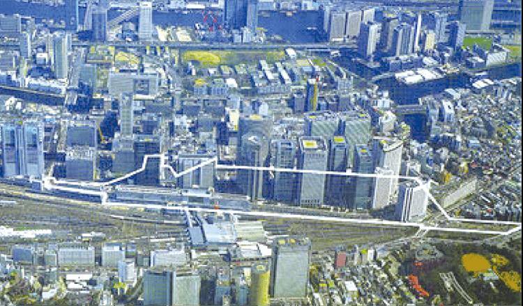 品川駅東口土地区画整理事業 (施行後)