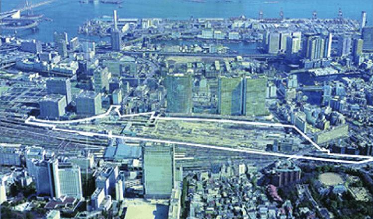 品川駅東口土地区画整理事業 (施行前)