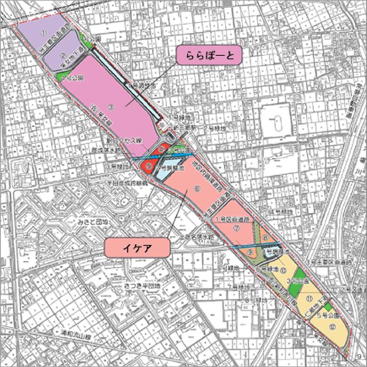 武蔵野操車場跡地(三郷市域)の開発行為に伴う整備事業